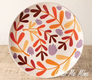 Metro Pointe Fall Floral Charger