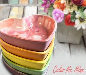 Metro Pointe Candy Heart Bowls